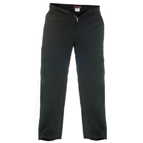 DUKE Cotton Cargo Trousers - Black